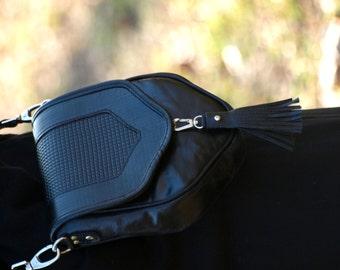 the elegant boho rebelias bag, handmade, unique, rocker, made of Italian leather, Leather Crossbody Bag