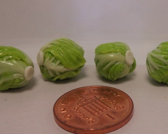 1:12 Scale Handmade Cabbages