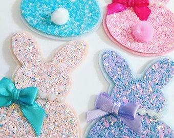 Bunny clip, Easter bunny, Easter Hair Clip, Bunny Hair Clip, Bunny, Hair Clip, Glitter Clip, Glitter Bunny