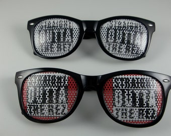 Straight Out Of the Rez Pinhole Retro Sunglasses
