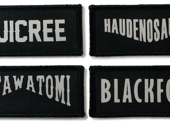 Custom Name Patch/Printed word Patch