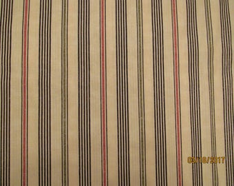 Marakesh, Maywood Studio, Red, green, black stripe, Quilt Fabric 100% Cotton
