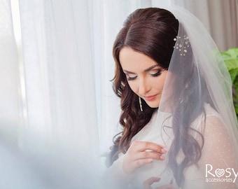 Bridal Hair Pin Beaded Hair Pin Gold Hair Pin Wedding Hair Pin Ivory Hair Pin Bridal pin Bridal accessories Bridal hair Wedding accessory