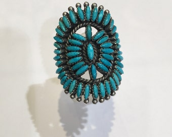 Turquoise stones in 925 Silver ring