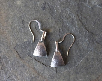 Isos Pewter Triangle Earring