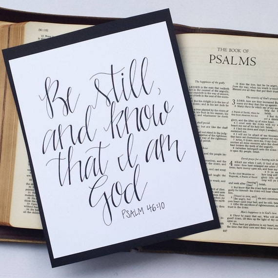 Bible verse calligraphy wall art psalm by