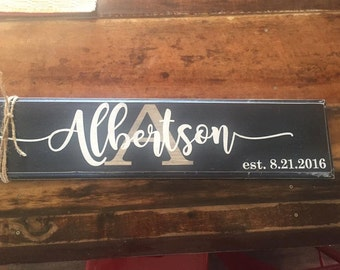 Personalize Wood signs