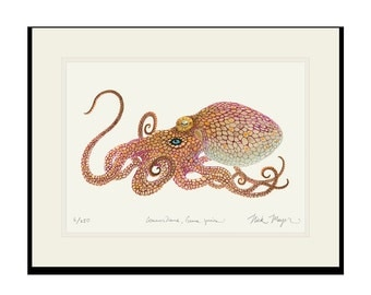 Two Spot Octopus Limited Edition Signed Print