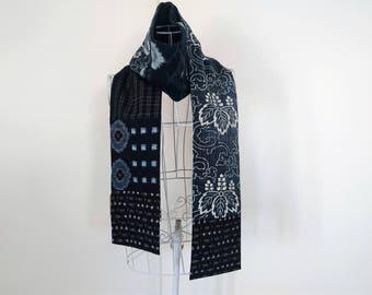 Vintage Japanese Indigo Aizome scarf - long
