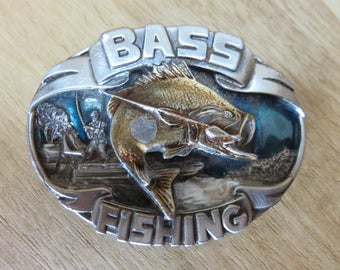 Magnificent Vintage 1986 SISKIYOU- Bass Fishing - Belt Buckle - Collection