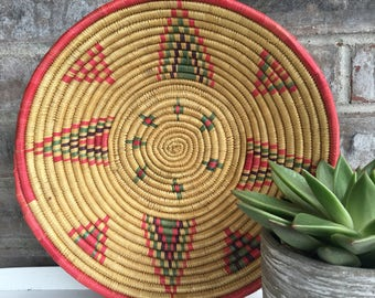 Boho Wooven Coil Bowl//Wall Hanging Bowl