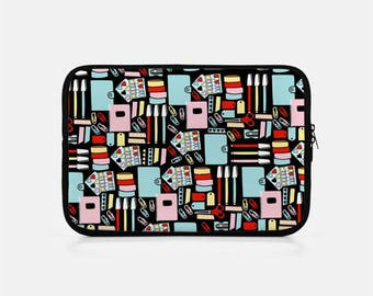 Black iPad Sleeve, Planner iPad Sleeve, iPad Mini Sleeve, Planner Addict Gift, Kindle Sleeve, iPad Mini Cover, iPad Clutch, Tablet Sleeve,