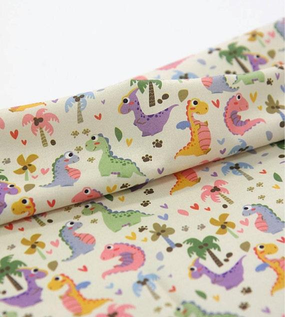 Dinosaur fabric kids fabric boy fabric cute fabric for Kids dinosaur fabric