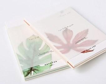 Note For Leaf—Maple Leaf Blank Notebook, Ginko Leaf,Minimalist Notebook,Note for Leaf,Journal,Diary,Planner,Journal Insert,Planner Insert,