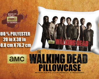 The Walking Dead Group Rick Daryl Maggie Glenn Michonne Carl Carol Pillowcase