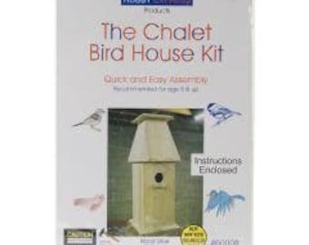 Unfinished Wood Kit-Chalet Bird House
