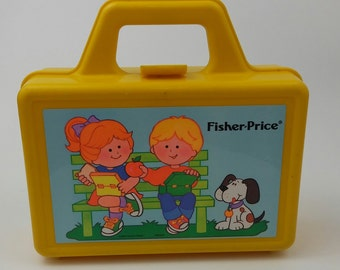 Fisher Price VIntage Lunch Pail Lunch Box 1990 Kids Child Toddler