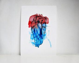 Blades / Iceberg heart / printing