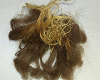 1 oz. moorit lambs locks, unwashed but clean and soft with crimpy thel, from our lamb Mora, length is 6-7 inches
