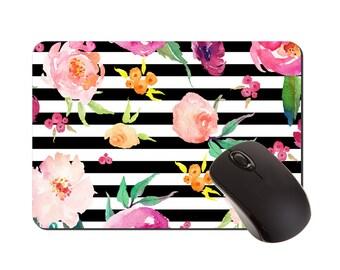 Mouse Pad | Mousepad | Desk Accessories | Floral Mousepad | Mouse Mat | Coworker Gift | Rectangular Mousepad | Office Decor