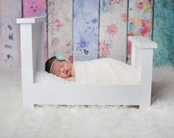 White Photography Bed Prop, Newborn Bed Prop, Photography Prop, White Bed Prop