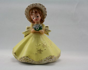 Josef original May doll of the month.  Vintage 1960s figurine.