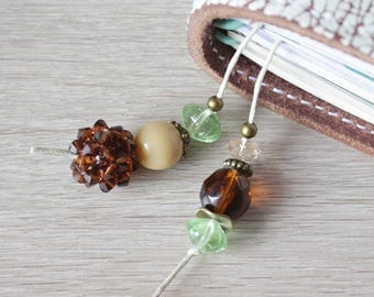 Mocca & Mint - Bookmark for your Travelers Notebook with Swarovski Elements