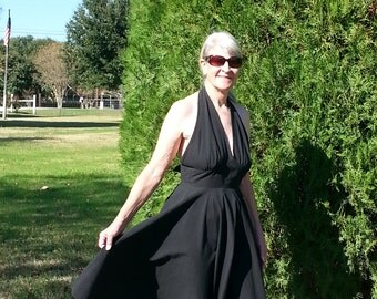 Marilyn Monroe Estate Classic Black Halter Dress