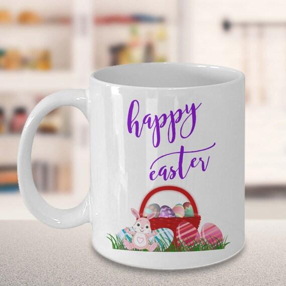 Unique easter coffee mug gift easter basket mug with easter like this item negle Choice Image