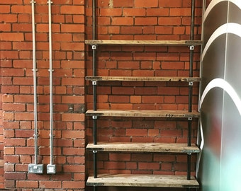 Reclaimed Industrial Scaffold Shelving - Hand made to measure in the UK