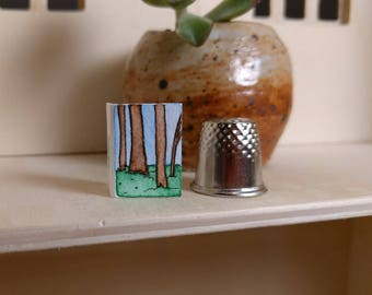 Woods: Thimble-Sized Fairy Greeting Card