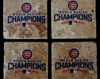 Chicago Cubs World Series Champions Coasters