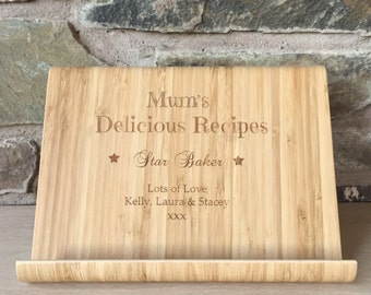 Personalised Wooden Recipe Stand, Recipe Holder, Recipe stand, Wooden Recipe Stand, Mother's Day Gift, Cooking Gift, Personalsied Gift