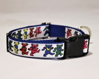 Dancing Bears 1 in. wide dog collar