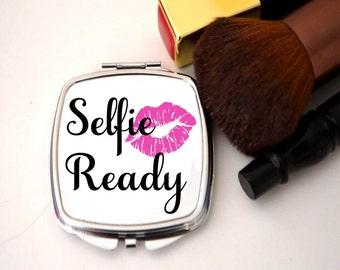 Compact mirror, selfie ready, bridesmaid thank you, bridesmaid gift