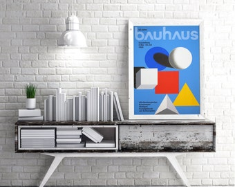 Bauhaus Mid Century Graphic Design Print History Poster Wall Art German Artwork Famous