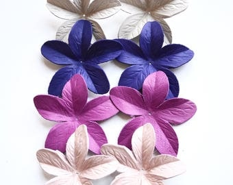 Lily leather flowers set of 8 pcs