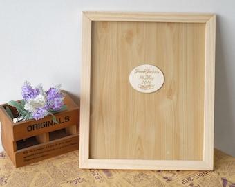 Framed Heart Guestbook -  Wedding Accessories -  Wooden Hearts Guest Book -  Wedding Guest Book - Alternative Wedding Guest Book