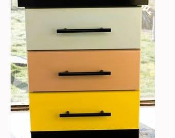 Upcycled bedside cabinet