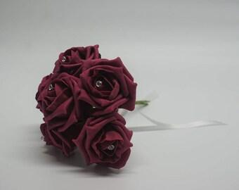 Wedding Posy - Perfect for Bridesmaids ( Raspberry )