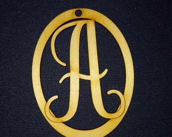 Monogram Letters can be used as ornament or gift tags