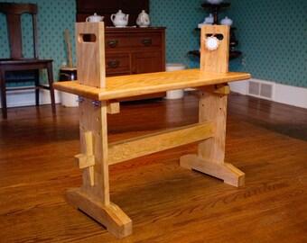 Adjustable Weaver's Loom Bench