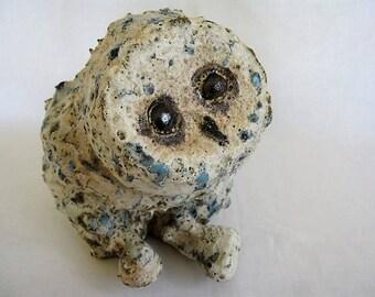Baby Owl/Owl Sculpture/Unique ceramic Owl