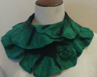 Beautiful Wet Felted Cowl Neck Warmer