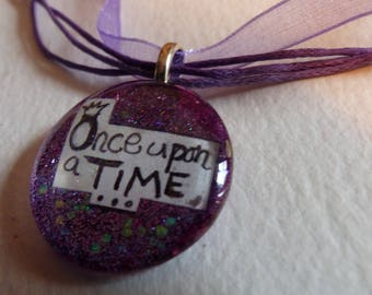 Glass Pendant 'Once Upon a Time'