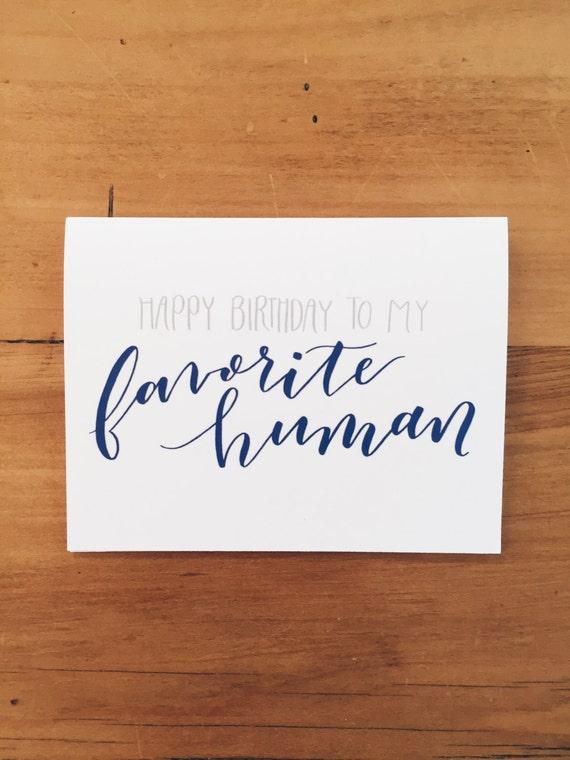 Favorite Human Birthday Card