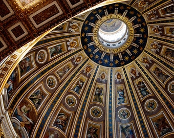 Dome Of The Vatican, Photography, Rome, Fine Art Print