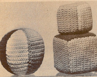 Vintage Soft Play Balls and Blocks Crochet Pattern