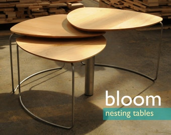 bloom - modern nesting tables / coffee table