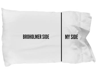 Broholmer Pillowcase - Broholmer Gifts - Funny Broholmer Pillow Case - Broholmer Dog Side My Side